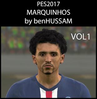 PES 2017 Faces Marquinhos by BenHussam