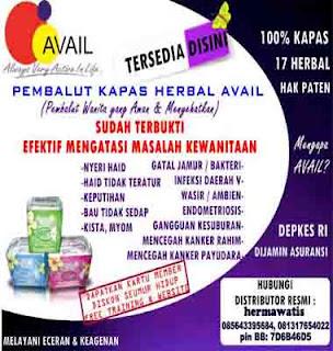 Info Toko Avail Jual Grosir Pembalut Pantiliner Harga Member Termurah di Jogja