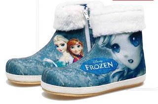 Contoh Gambar Sepatu Frozen Anak Perempuan