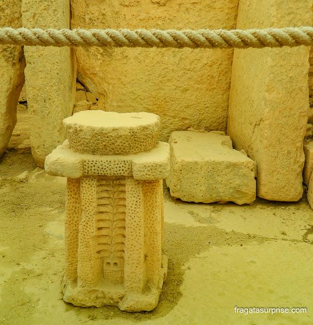 Altar no Templo de Hagar Qim, Malta