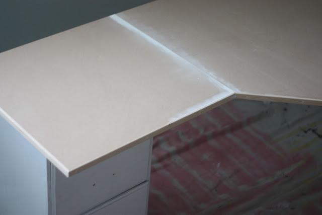 Corner desk for Mom cave... | BeingBrook