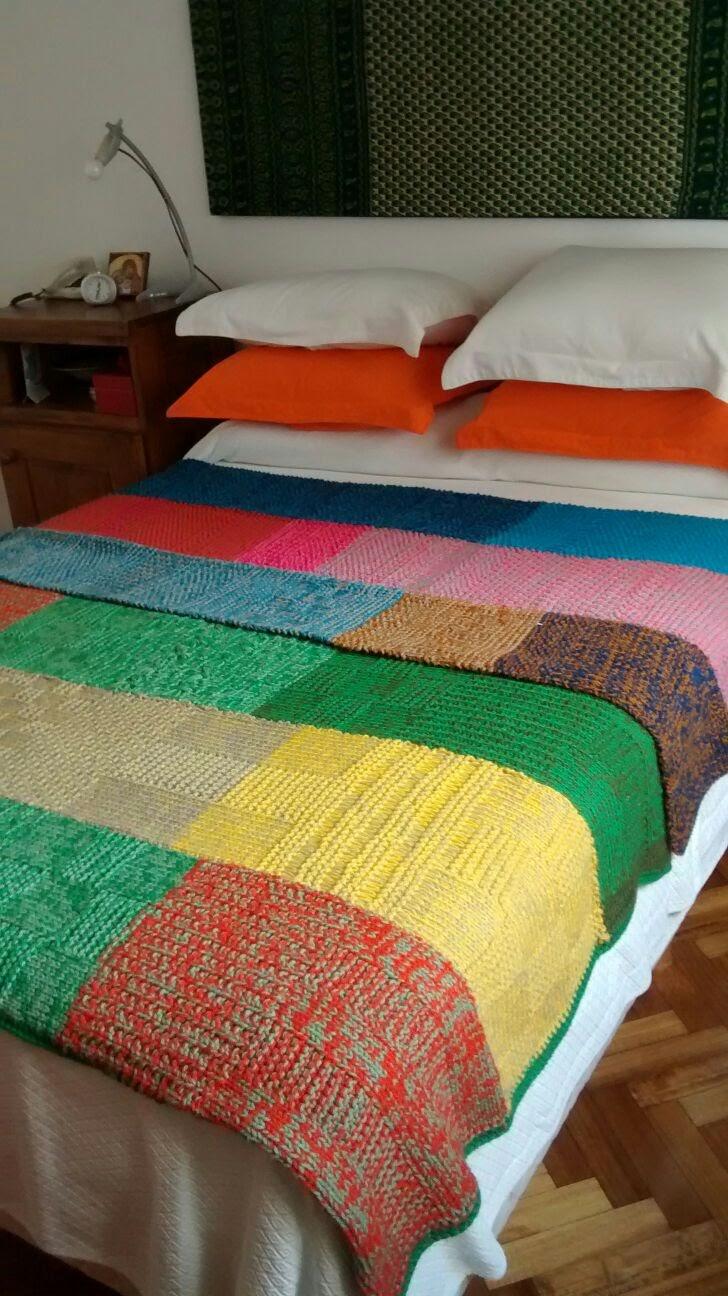 Puerta al sur mantas a dos agujas ideal como manta o pie de cama - Como hacer mantas de punto ...