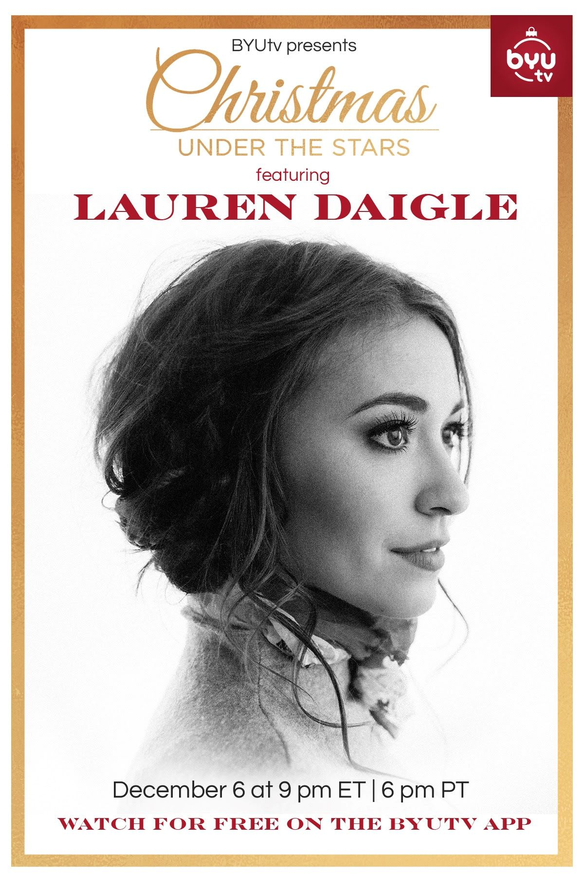 Christmas Under the Stars A New Christmas special from Lauren Daigle