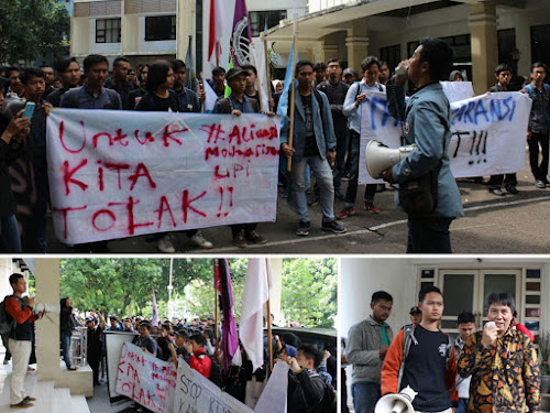Demo Mahasiswa UPI terkait Uang Kuliah Tunggal (