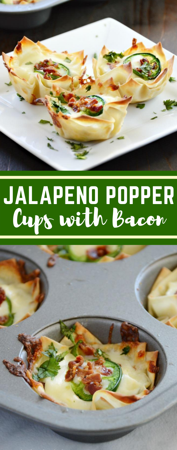 Jalapeno Popper Cups with Bacon #appetizers #lunch #jalapeno #meals #easyrecipe