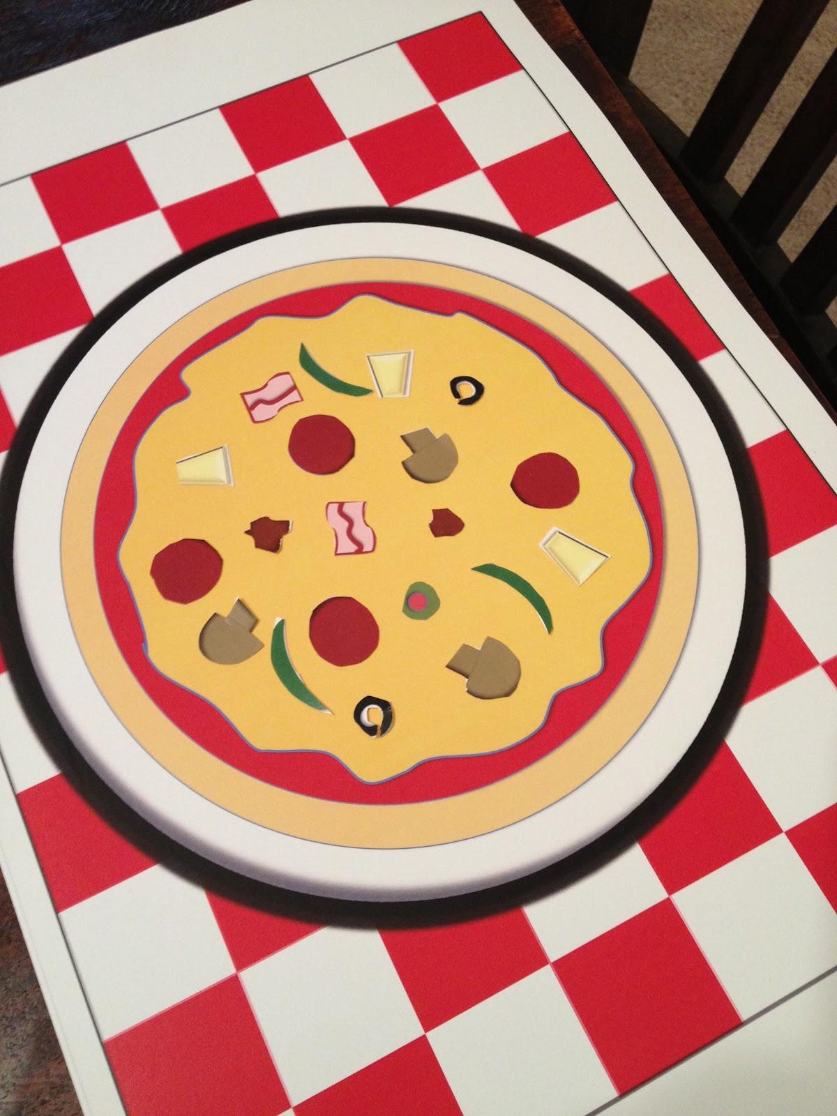 Kids Pizza Party Pizza Place Mat