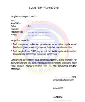 Surat Pernyataan bagi Guru PAI