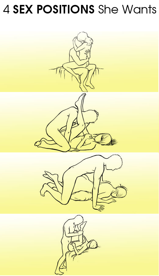 4 Sex Positions She Wants