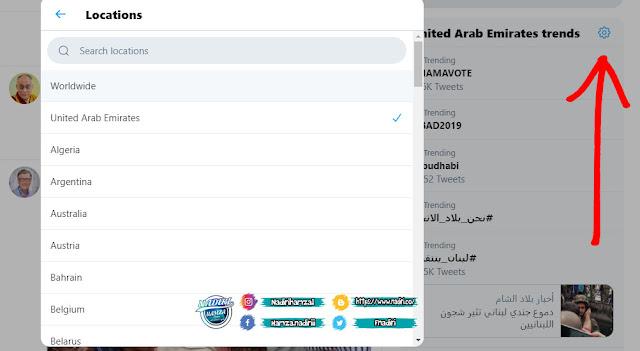 الهاشتاقات النشطة على تويتر في دول العربية