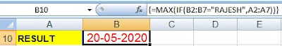 Excel Array Formula Use with Transpose, Max, Min