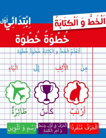 اوراق عمل الخط والكتابة في اللغة العربية للصف الاول الفصل الاول 2019-2020