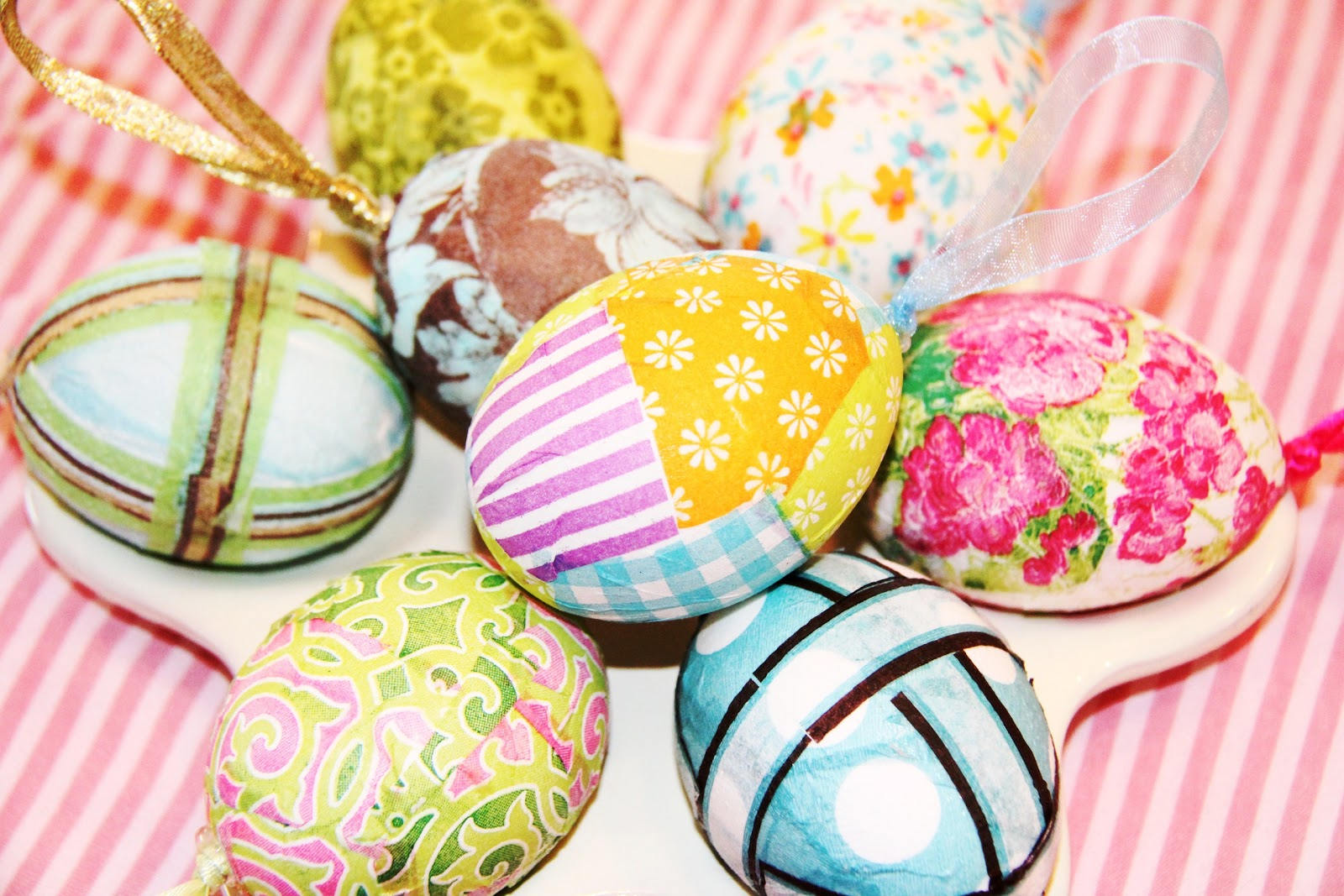 Stranded In Cleveland Decoupaged Easter Eggs Diy