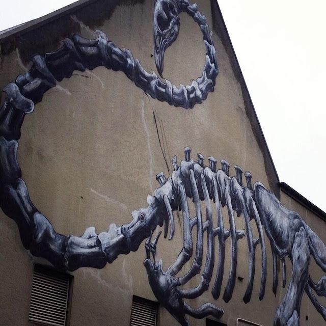 Work In Progress by ROA For Rise Street Art Festival In Christchurch, New Zealand. 7