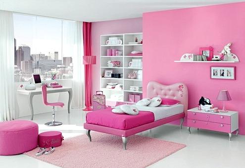 10 Model Tempat Tidur Minimalis Untuk Anak Perempuan Bertema Pink ! - Simple