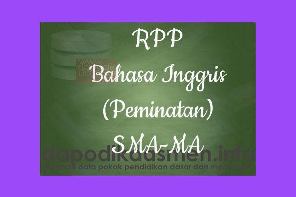 RPP 1 Halaman K13 SMA/MA Kelas 12 Bahasa Inggris (Peminatan) Semester 1, Download RPP Bahasa Inggris (Peminatan) Kurikulum 2013 SMA Kelas 12 Revisi 1 Lembar, RPP Silabus 1 Lembar Kelas 12