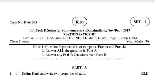 r16 b-tech engineering mathematics-3 old question papers jntuk nov-dec 2017