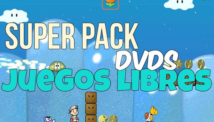 SuperPack DVDs Con Los Mejores Juegos Libres totalmente gratuitos para todas las edades, 2019.