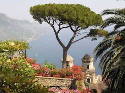 Terraza con vistas al Mar Tirreno