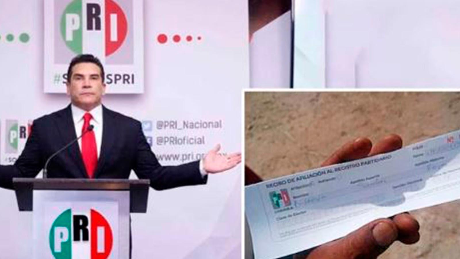 Denuncia que el PRI está entregando despensas federales a cambio de afiliaciones, en Coahuila