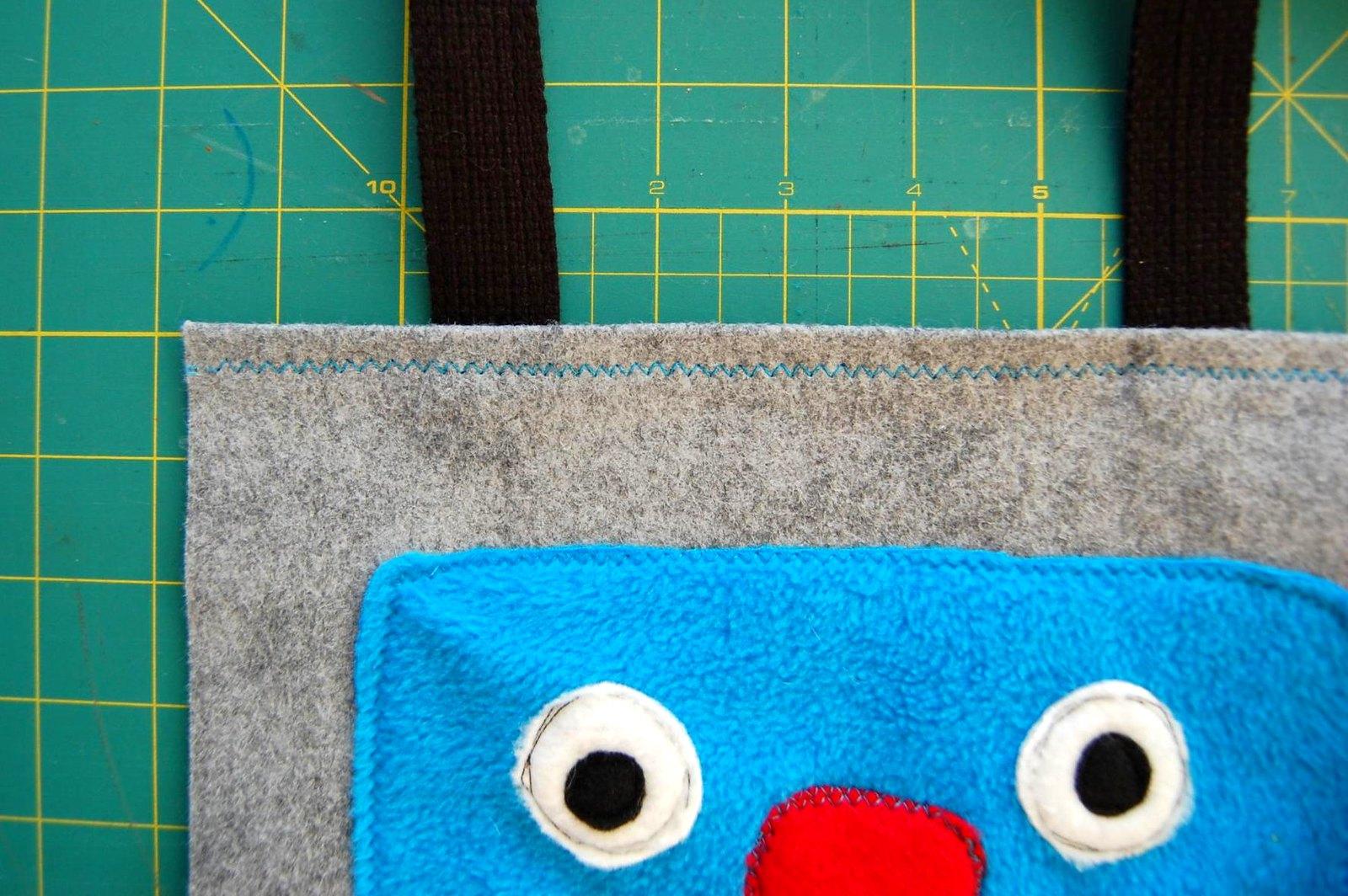 Monster Art Tote Bag Tutorial