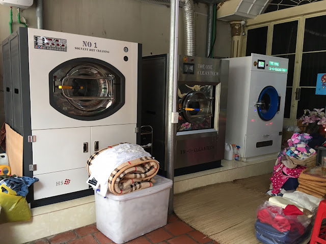 Ngân sách và không gian tiệm giặt đủ rộng là những yếu tố cần thiết