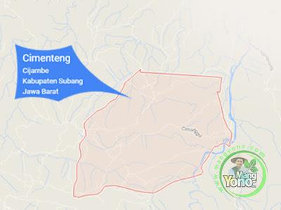 PETA : Desa Cimenteng, Kecamatan Cijambe