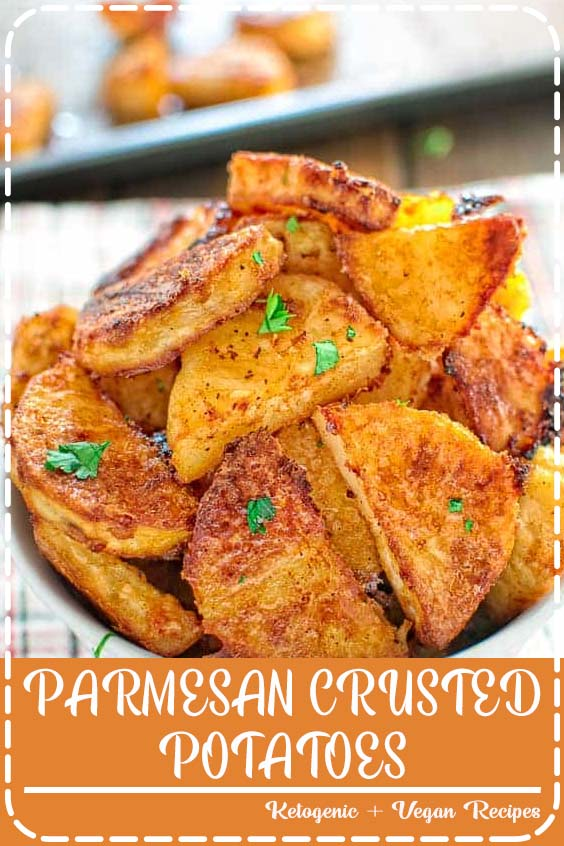 These tasty Parmesan Crusted Potatoes are so addictive PARMESAN CRUSTED POTATOES