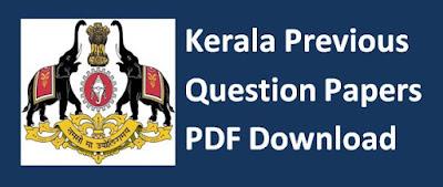 Kerala Previous Papers