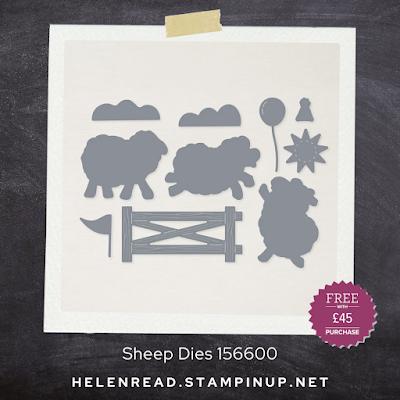 Sheep Dies Stampin' Up demonstrator UK