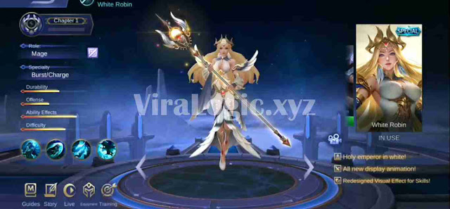 Script Skin Special Kadita White Robin Mobile Legends