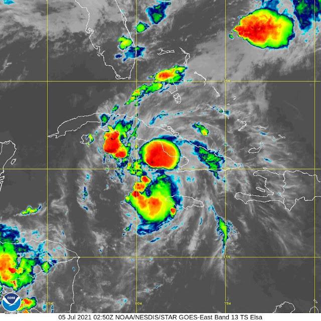 Elsa se intensifica ligeramente al sur de la región central de Cuba