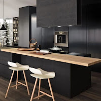 Minimalist black cabinet design idea