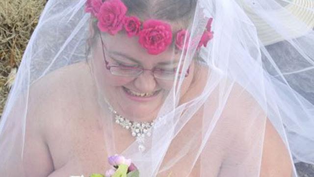 Невеста весом 165 кг вышла замуж обнаженной перед 700 гостями