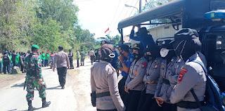 Aksi Unjuk Rasa Eks Buruh PT. Bangun Makassar Mining, Kapolres Pangkep Langsung ke Lokasi