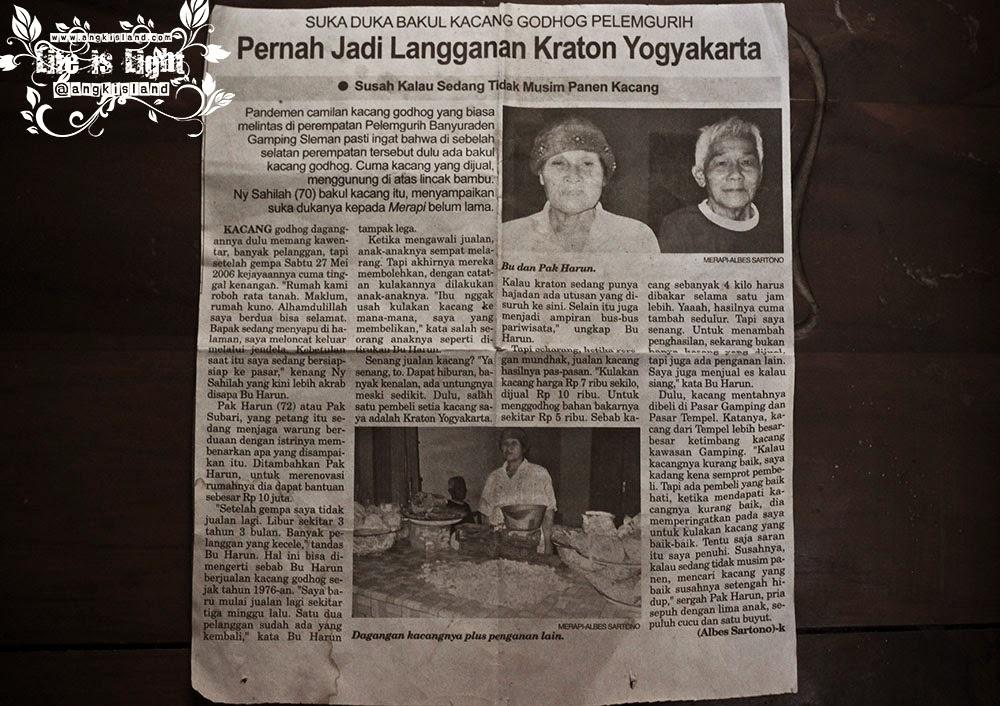 kacang pelem gurih Yogyakarta