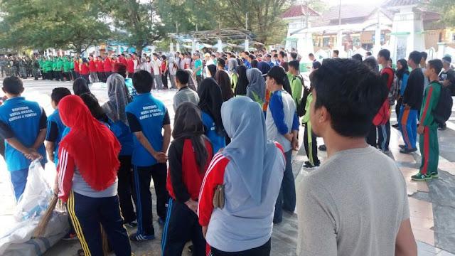 Meriahkan HUT TNI ke 72 Di Selayar, Kerja Bakti Massal Di 3 Titik Dan Bersihkan Lokasi, Mesjid Agung