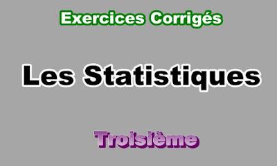 Exercices Corrigés de Statistiques 3eme en PDF