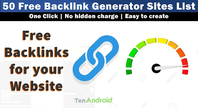 Create free backlink for your website