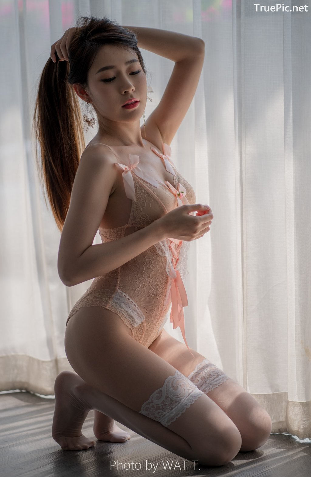 Image Thailand Model - Thipsuda Jitaree - Pink Sky Lingerie - TruePic.net - Picture-1