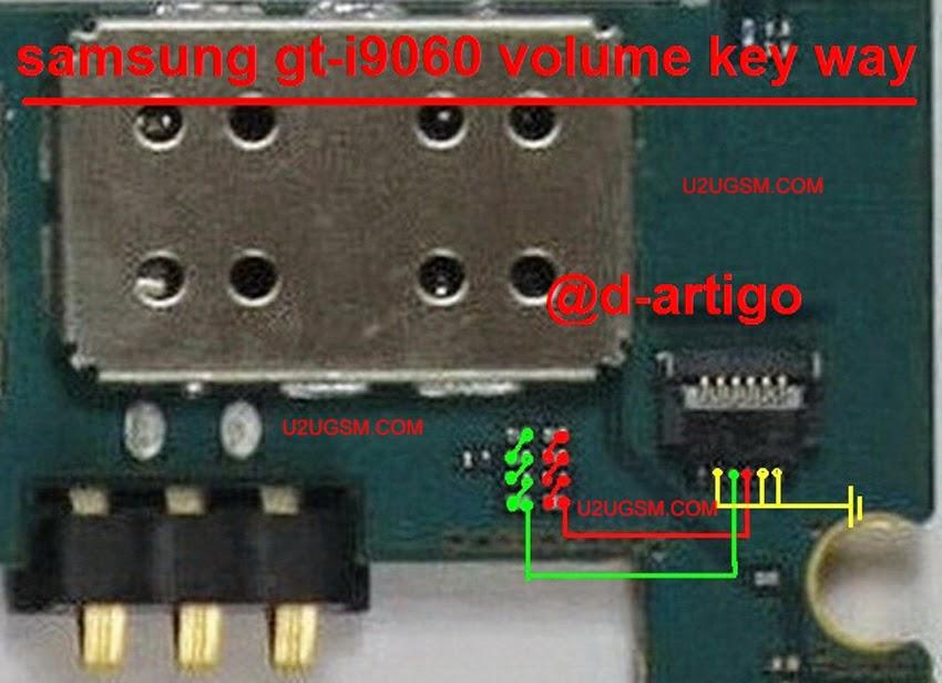 Samsung Grand Neo I9060 Voluem Keys Full Jumper Diagram
