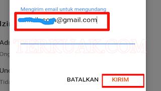 Mengirim email untuk mengudang penulis