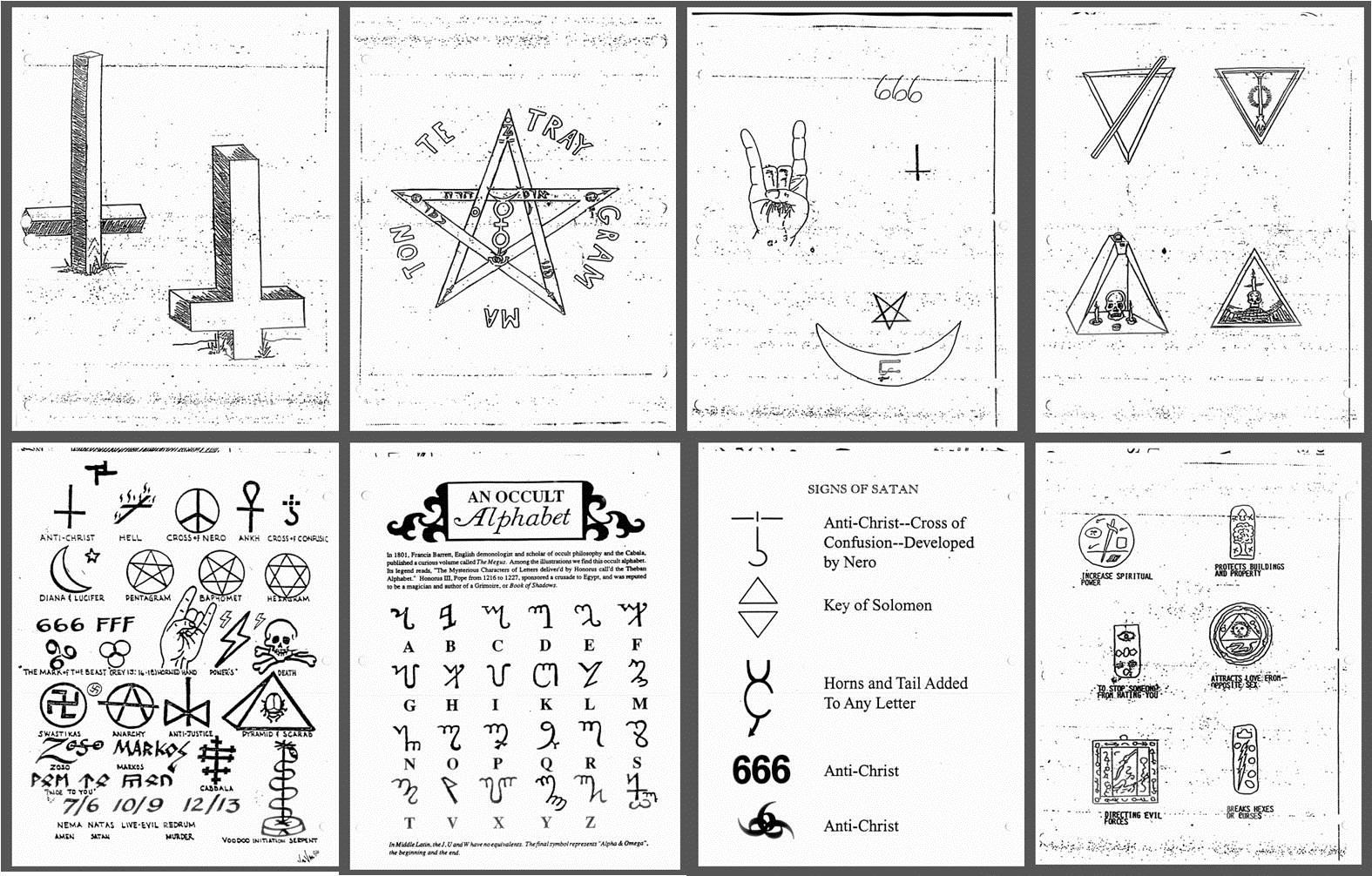 Satanic Symbols Satanic Alphabet