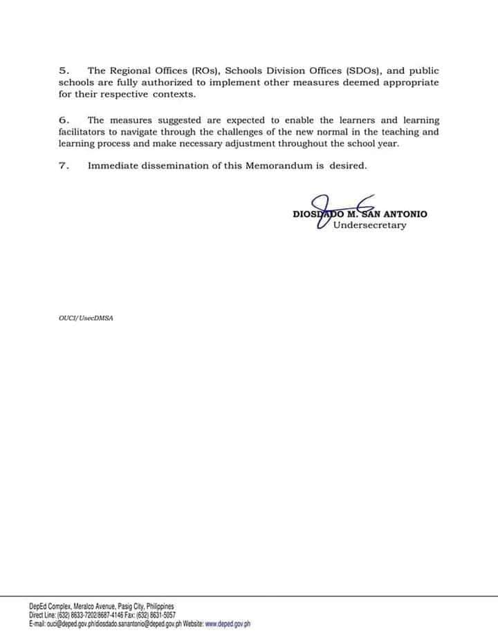 Christmas break for learners will start on December 13 Memorandum OUCI-2020-307 P4
