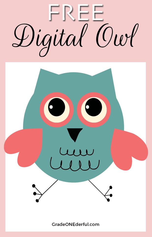 Free Valentine clipart owl