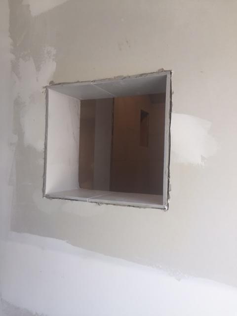 Shower niche under construction - Hello Lovely Studio