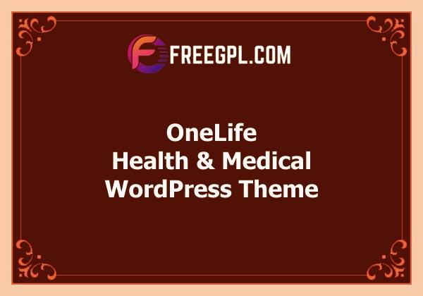 OneLife - Health, Medical WordPress Theme Free Download