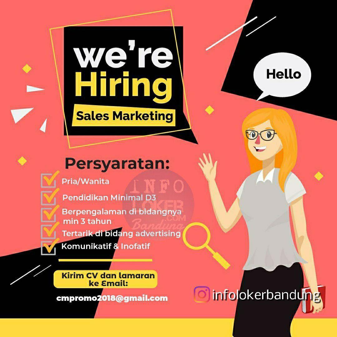 Lowongan Kerja CV Citra Media Promo Bandung Agustus 2018