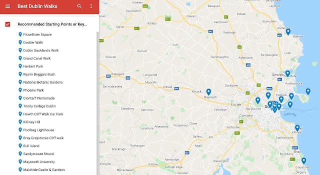 Best Dublin Walks Map