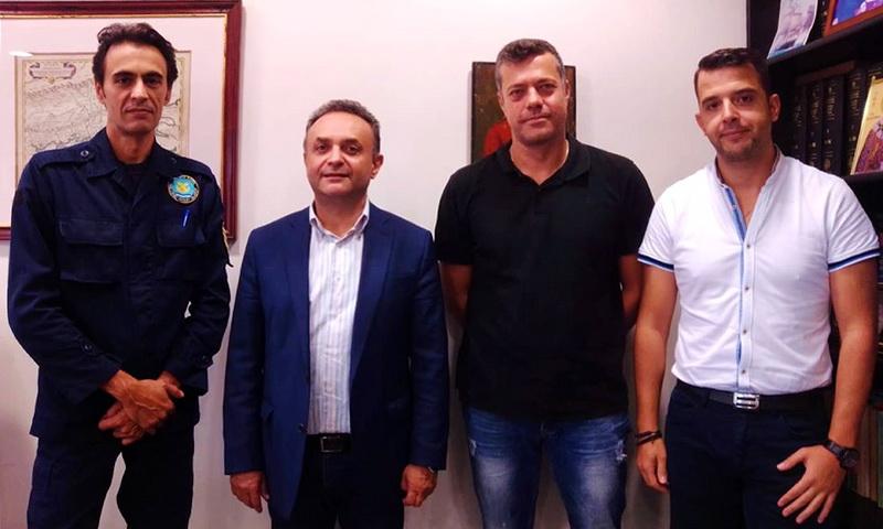 Συνάντηση αντιπροσωπείας της Ένωσης Προσωπικού Λιμενικού Σώματος Θράκης με τον Σταύρο Κελέτση