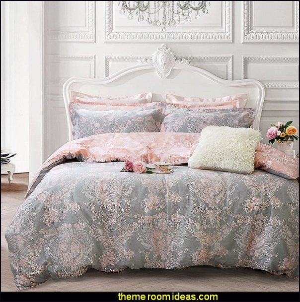 Damask Floral Bedding girls bedding romantic bedrooms pretty bedding